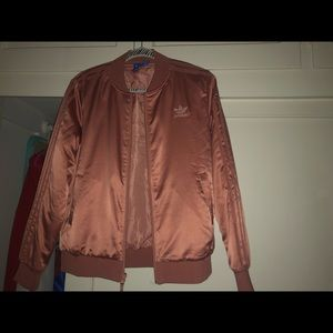 Pink Addis's bomber jacket